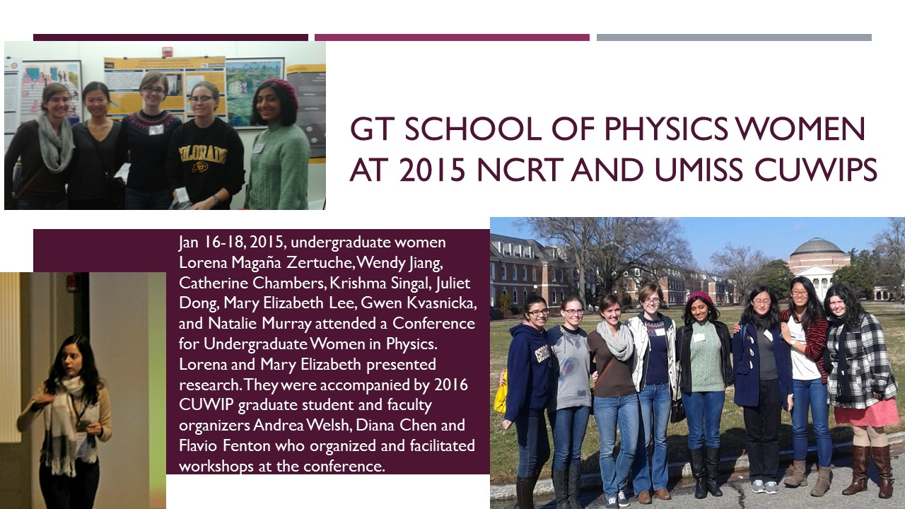 GT Women at 2015 CUWiP